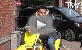 Chris Brown SUPER Stoned, Stopped By Cops in Amsterdam