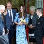 Prince William Kate Middleton Altazurra Blue Dress Stewards Academy