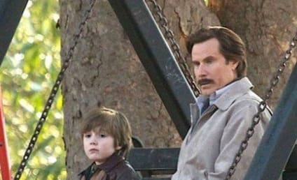 Anchorman 2 Set Photo: Ron Burgundy's Son?