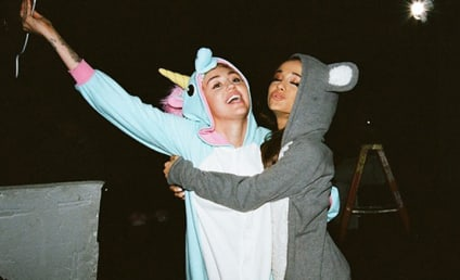 "Miley Cyrus, Ariana Grande Wear Animal Onesies, Cover ""Don't Dream It's Over"""