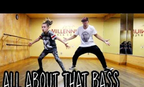 """11-Year Old Dances to """"All About That Bass"""""""