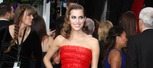 Allison Williams at the Golden Globes