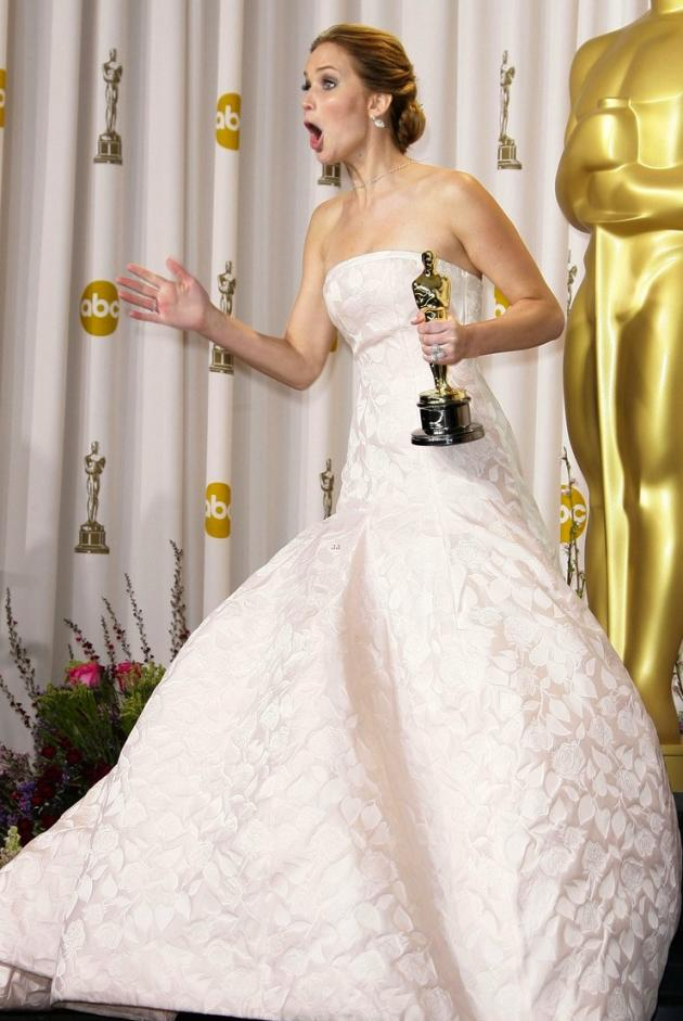 Jennifer Lawrence Reacts