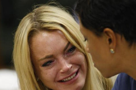 Lohan Crying