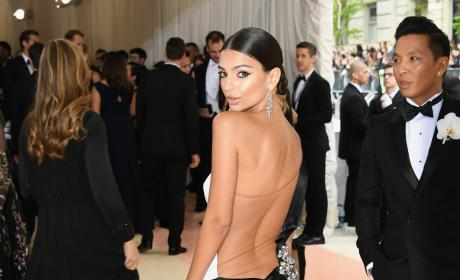 Emily Ratajkowski: Dress Back-Shot at The 2016 Costume Institute Gala