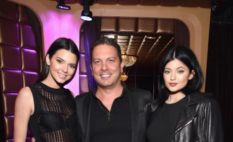 Kendall Jenner, Tommaso Bruso and Kylie Jenner Celebrate Kylie and Kendall's DuJour Magazine Cover Shoot