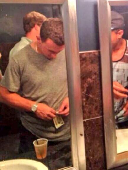 Johnny Manziel Rolls Bill