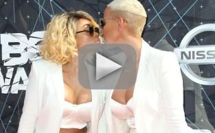 Amber Rose and Blac Chyna Kiss on BET Awards Red Carpet