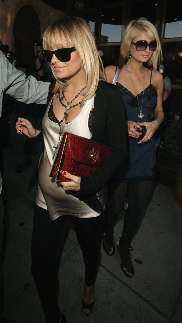 Paris Hilton and Nicole Richie leaving the club