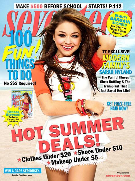 Sarah Hyland Seventeen Cover