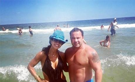 Teresa and Joe Giudice at the Beach
