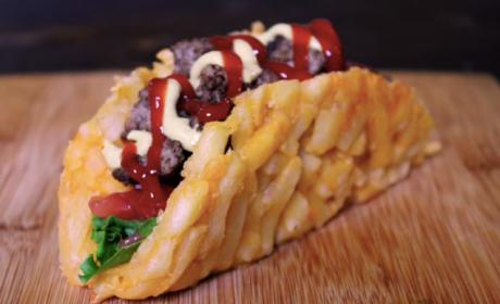 French Fry Burger Taco is a Food That Actually Exists