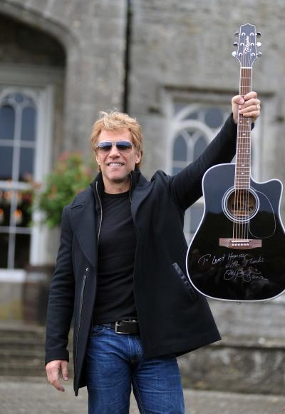 Jon Bon Jovi with a Guitar