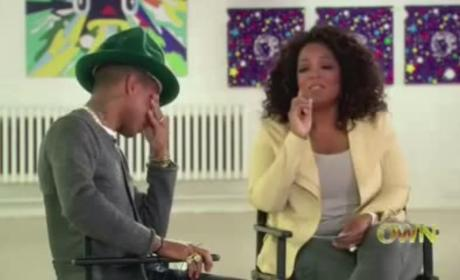 Pharrell Cries 'Happy' Tears with Oprah Winfrey