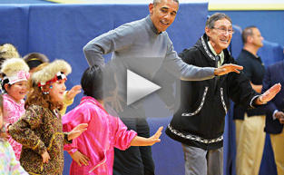 President Obama Busts Some Serious Moves in Alaska