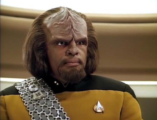Worf from Star Trek