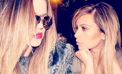 "Kim Kardashian Shares ""Serious Sister Moment,"" Khloe Shares New Motto"