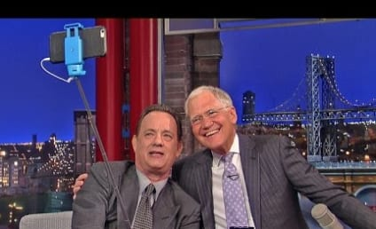 David Letterman Receives Selfie Stick Lesson from Tom Hanks