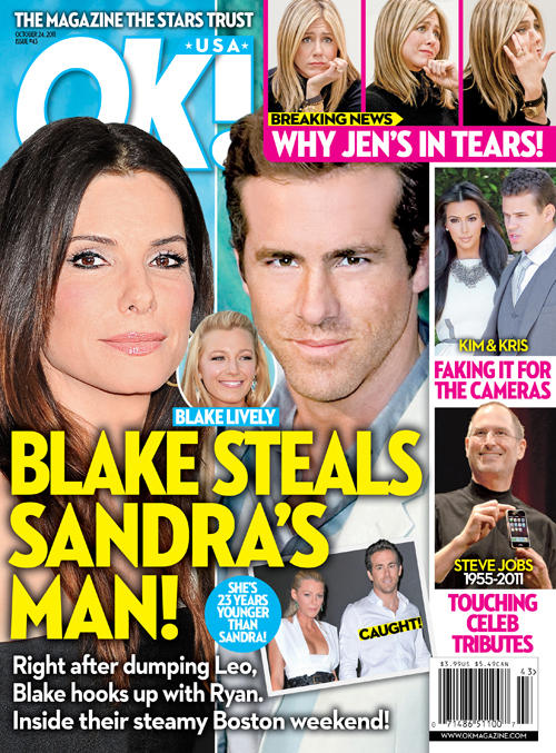 Sandra Bullock, Ryan Reynolds Cover