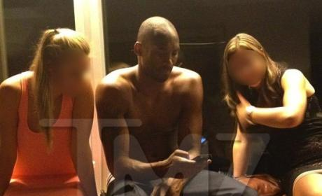 Kobe Bryant Shirtless, Partying