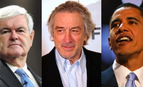 "Newt Gingrich Demands Apology From Robert De Niro Over ""First White Lady"" Joke"