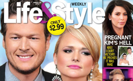 Miranda Lambert/Blake Shelton Tabloid Cover