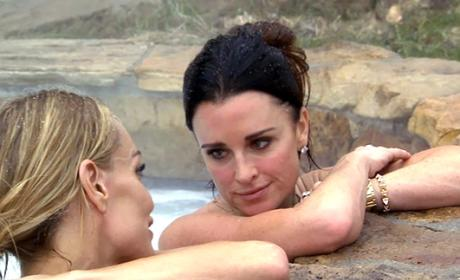 Kyle Richards in the Tub