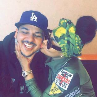 Blac Chyna Kissing Rob Kardashian