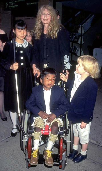 Mia Farrow Son Thaddeus Wheelchair