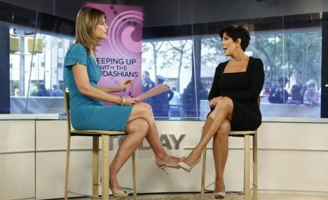 Savannah Guthrie and Kris Jenner