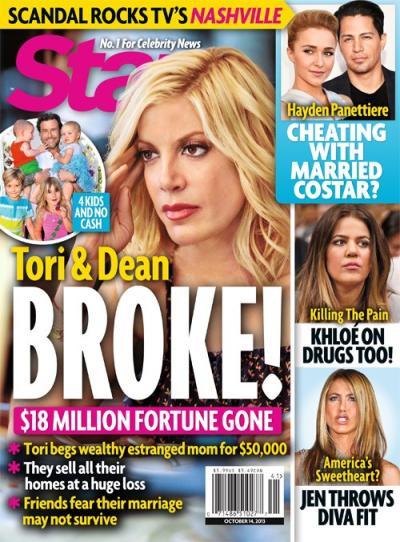 Tori Spelling Broke?