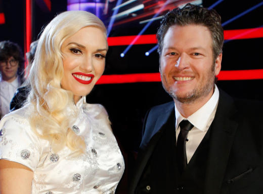 Gwen Stefani and Blake Shelton for The Voice
