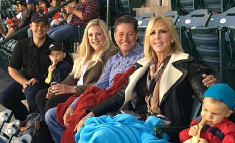 Vicki Gunvalson and Her New Boyfriend Watch a Baseball Game With Her Family