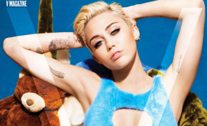 Miley Cyrus Wears Weird, Fuzzy Bathing Suit on V Magazine Cover