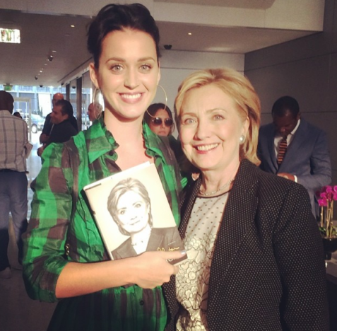 Katy Perry and Hillary Clinton