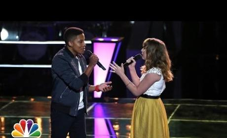"Caroline Pennell vs. Anthony Paul: ""As Long As You Love Me"" - The Voice Battle Round"