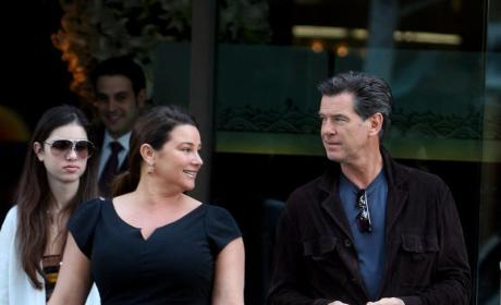 Keely Shaye Smith and Pierce Brosnan