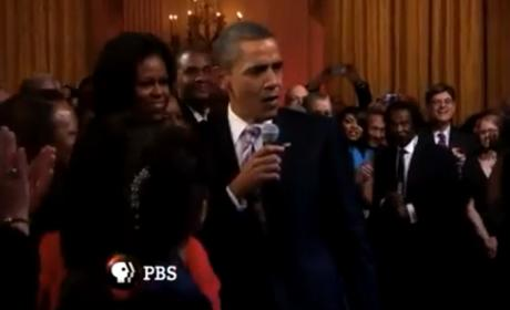 "President Obama Sings ""Sweet Home Chicago"" With B.B. King, Mick Jagger"