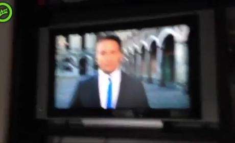Dedicated Videobomber Sprints from House, Appears in Broadcast