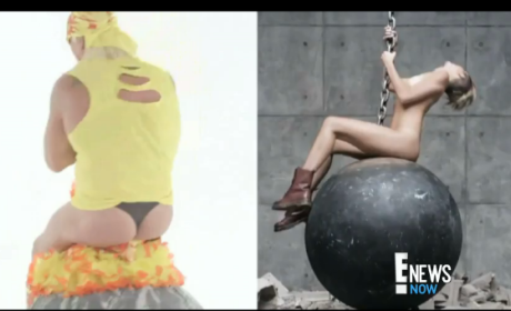 Hulk Hogan Rides Wrecking Ball in a Thong