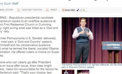 Great Moments in Rick Santorum Headline Writing