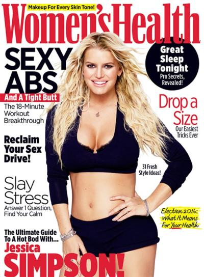 Jessica Simpson Women's Health Cover