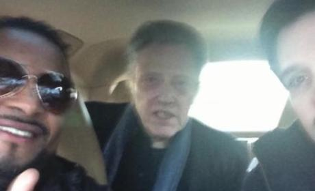 Christopher Walken Hitches a Ride With Fans