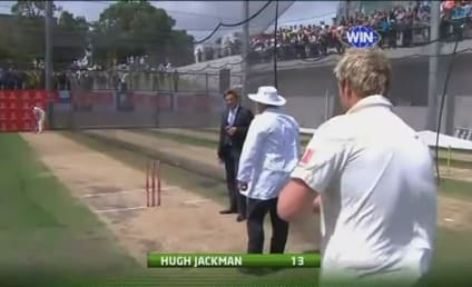 Hugh Jackman Smacks Himself in Crotch