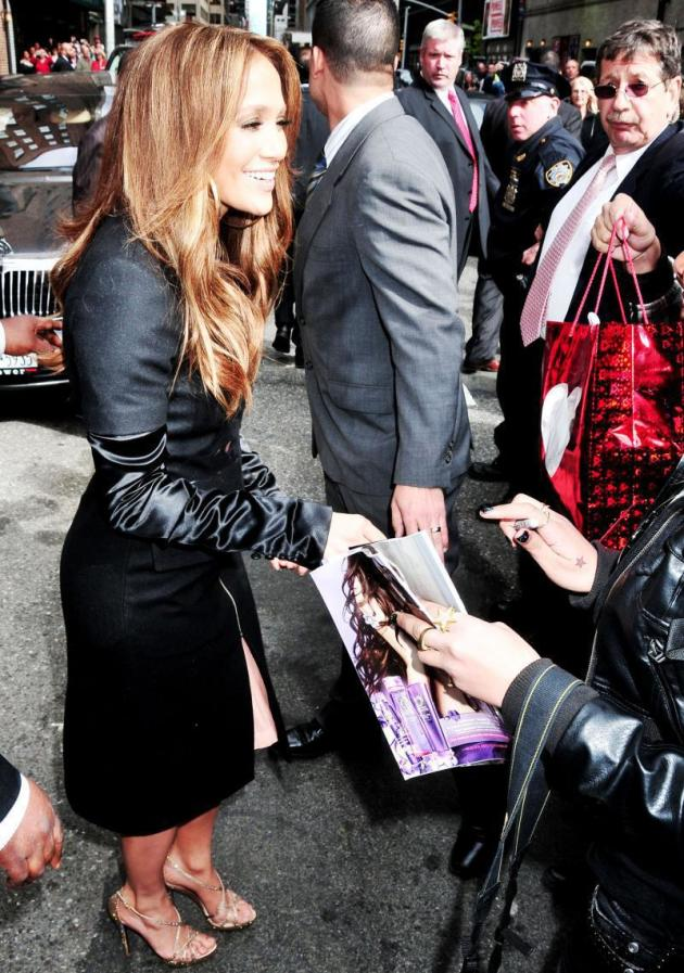 Greeting Her Fans