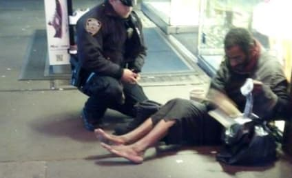 NYPD Officer Buys Homeless Man Boots, Photo Goes Viral
