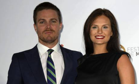 Stephen Amell and Cassandra Jean