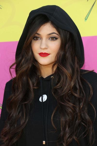 Kylie Jenner with a Hood