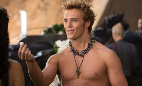 Sam Claflin as Finnick: First, Shirtless Look!