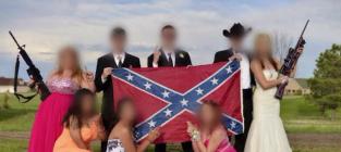 Confederate Flag Prom Photo